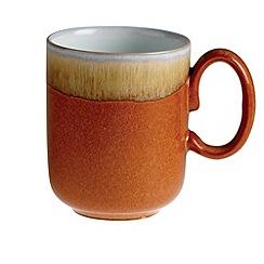 Denby - Orange 'Fire' double dip print mug
