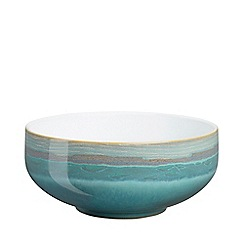 Denby - Sea green and white 'Azure Coast' cereal bowl