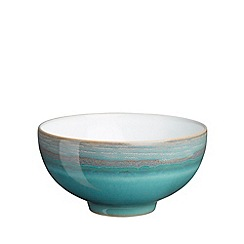 Denby - Sea green and white 'Azure Coast' rice bowl