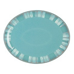 Denby - Sea green and white 'Azure Coast' oval platter