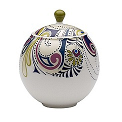 Denby - White 'Monsoon Cosmic' sugar bowl with lid