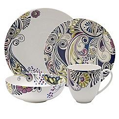 Denby - Sixteen piece 'Monsoon Cosmic' dinnerware Set