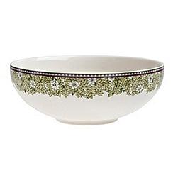 Denby - White 'Monsoon Daisy' border cereal bowl