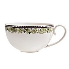Denby - White 'Monsoon Daisy' border tea cup