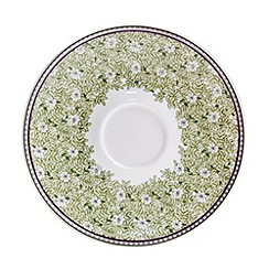 Denby - White 'Monsoon Daisy' border tea saucer
