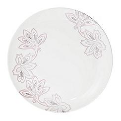 Denby - Fine china cream 'Monsoon Chantilly' dinner plate