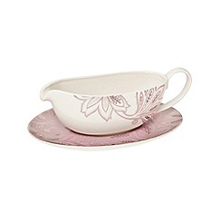Denby - Fine china 'Monsoon Chantilly' sauce boat & stand