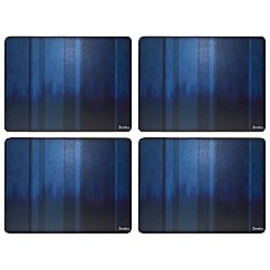 Denby - Pack of 4 blue striped placemats