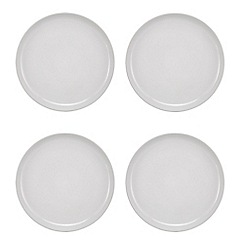 Home Collection Basics - Pack of 4 grey dinner plates