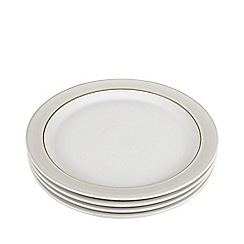 Denby - Pack of 4 'Natural Canvas' dinner plates