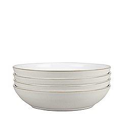 Denby - Pack of 4 glazed 'Natural Canvas' pasta bowls