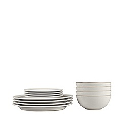 Denby - Glazed 'Natural Canvas' 12 piece dinnerware set