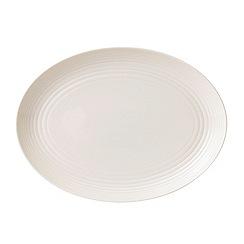 Gordon Ramsay By Royal Doulton - White 'Maze' oval dish
