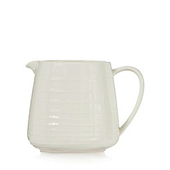 RJR.John Rocha - Off white 'Wave' textured jug