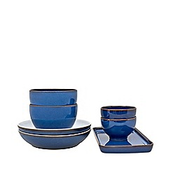 Denby - Imperial blue 7 piece takeaway set