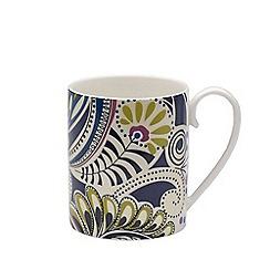 Denby - White 'Monsoon Cosmic' mug