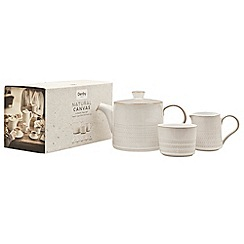 Denby - Glazed 'Natural Canvas' 3 piece tea set