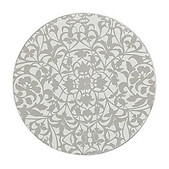 Denby - Pack of 4 silver 'Monsoon Filigree' coaters