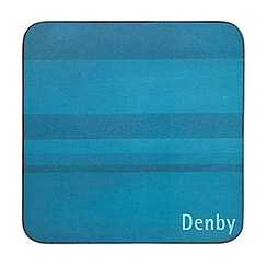 Denby - Pack of 6 turquoise coasters