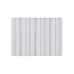 Denby - Pack of 6 cork backed cream stripe placemats