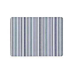 Denby - Set of 6 blue stripe placemats