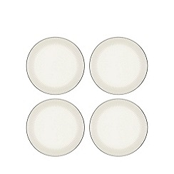 Home Collection - Set of four grey and white 'Stockholm' dinner plates
