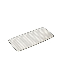Home Collection - Grey and white 'Stockholm' tray