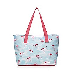 At home with Ashley Thomas - Multi-coloured flamingo print cool bag