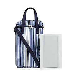 Home Collection - Navy striped wine carrier