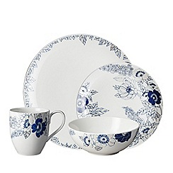 Denby - White 'Monsoon Fleur' 16 piece dinnerware set