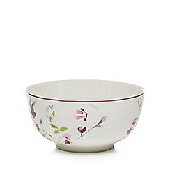 RJR.John Rocha - White floral cereal bowl