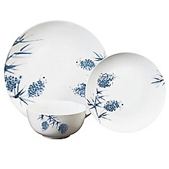 Home Collection - Multi-coloured porcelain 'Blossom' 12 piece dinnerware set