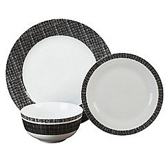 Home Collection - Multi-coloured porcelain 'Soho' 12 piece dinnerware set