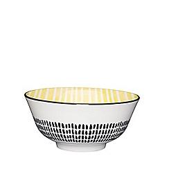 Kitchencraft - Yellow mono print gloss finish bowl