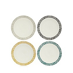 Debenhams - Set of four assorted retro-inspired print side plates