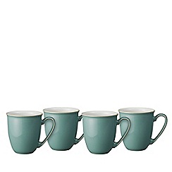 Denby - 'Elements' fern green set of 4 mugs