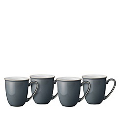Denby - 'Elements' fossil grey set of 4 mugs