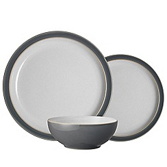 Denby - Grey stoneware 'Elements' 12 piece tableware set