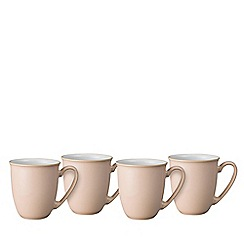 Denby - 'Elements' shell peach set of 4 mugs