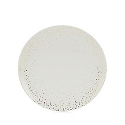 Home Collection - Multicoloured spotted porcelain dinner plate
