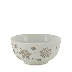 Home Collection - Multicoloured snowflake porcelain cereal bowl