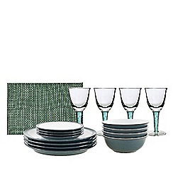 Denby - 12 Piece Tableware Set with Accessories & Glass