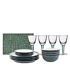 Denby - Green stoneware 'Greenwich' 12 piece tableware set