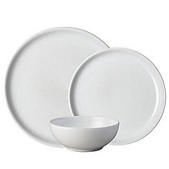 Denby - White stoneware 'Intro' 12 piece tableware set