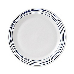 Royal Doulton - White and blue porcelain 'Pacific' plate
