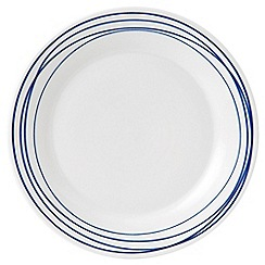 Royal Doulton - White porcelain 'Pacific' 23cm lines plate