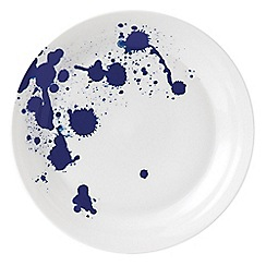 Royal Doulton - White and blue splash porcelain 'Pacific' 28cm plate