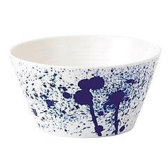 Royal Doulton - White and blue porcelain 'Pacific' splash cereal bowl
