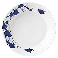 Royal Doulton - White and blue porcelain 'Pacific' splash pasta plate