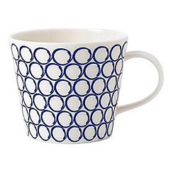 Royal Doulton - White and blue porcelain 'Pacific' circle mug